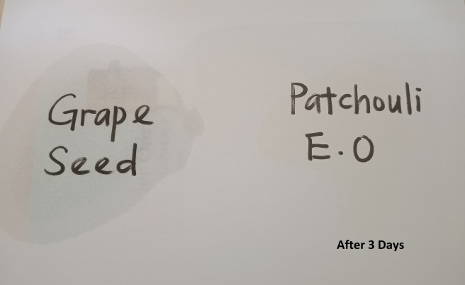 grapeseed vs patchouli_after 3 days